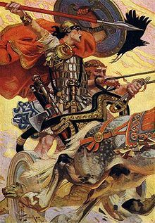 Cúchulainn from T.W. Rolleston's Myths and Legends of Ireland