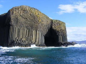 View of Fingal's Cave, Staffa, Scotland