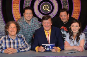 The QI panel for the episode concerned: L to R, Alan Davies, Jason Manford, Stephen Fry, Johnny Vegas, Aisling Bea