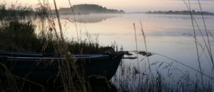 Misty sun over Lough Allen: (Lough Allen Outdoor Pursuits Centre.)