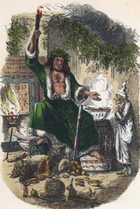 "Illustration of ""The Ghost of Christmas Present"" from Dickens' ""A Christmas Carol"""