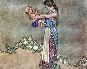 A Fairy Tale mother and baby