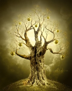 Illustration of a Golden Tree