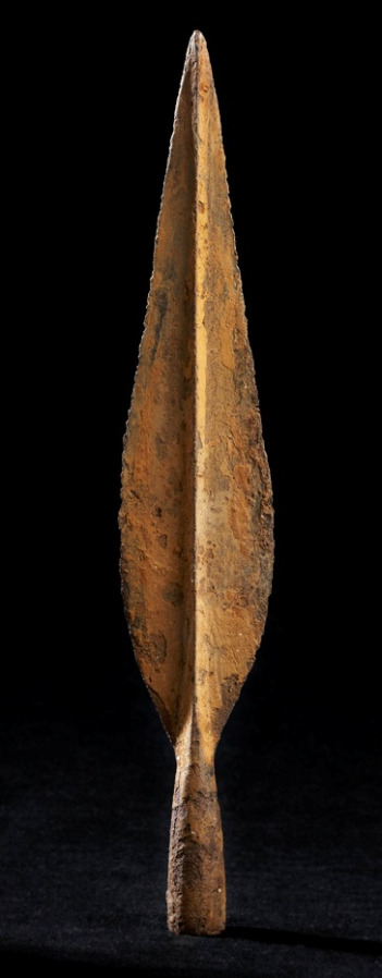 Spearhead, River Inny, Lackan, Co. Westmeath, possibly as early as 700BCC