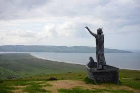 Statue of Manannan overlooking Lough Foyle