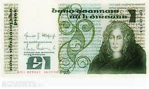 £1 -punt- note 1988