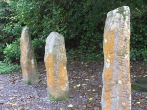 3 of the Collaiste Ide Ogham Stones in Co. Kerry