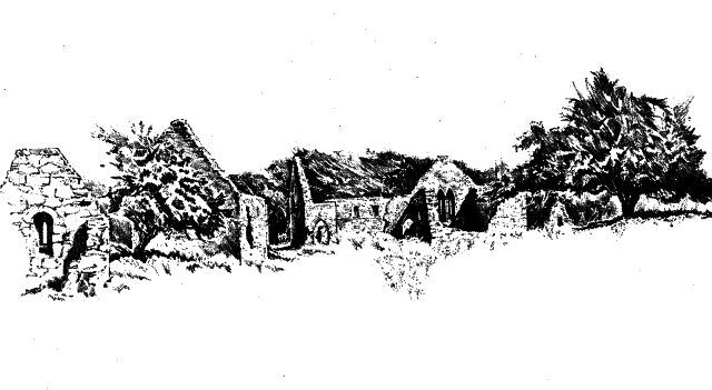 An early illustration of remains on Inis Clothrann