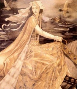 """Rhiannon"", a painting  by Alan Lee"