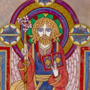 A Medieval Manuscript depiction of St. Finian