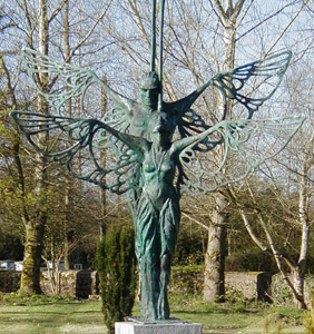 Sculpture of Étaín by Éamonn O'Doherty standing in the park near the Ardagh Heritage Centre, Co. Longford